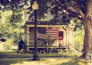 The American dream, flag, United States, America, U.S.