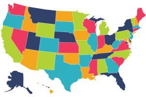 map, America, U.S.