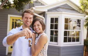 happy couple home sales