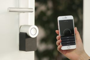 smart home, technology, phone, security